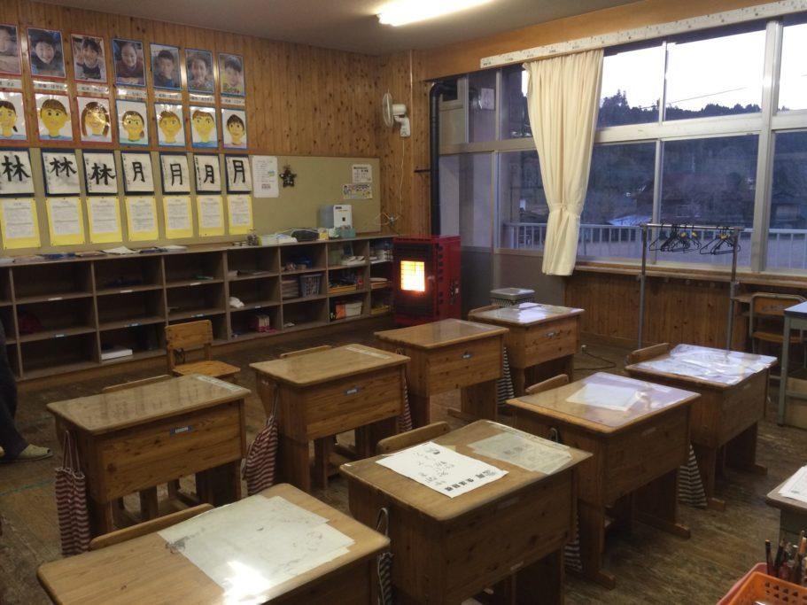 教室に設置