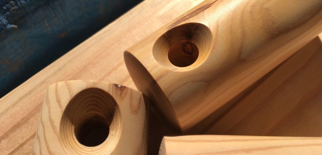 木製グリップ