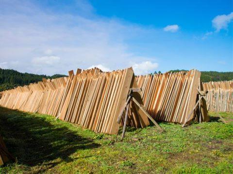 環境や木材に一番優しい天然乾燥